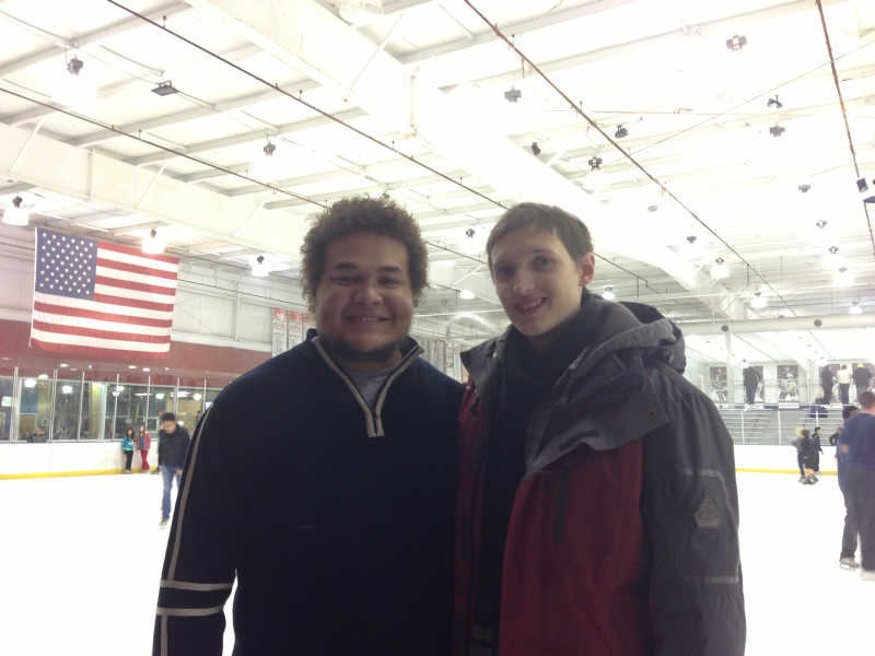 Mike und ich beim Schlittschuhlaufen am 1.2.2013