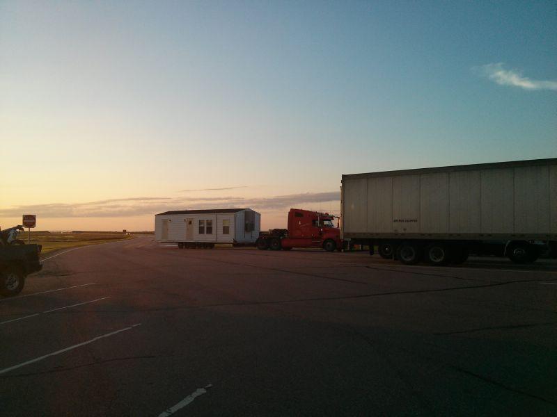 Erster Morgen auf dem Weg zum Yellowstone.