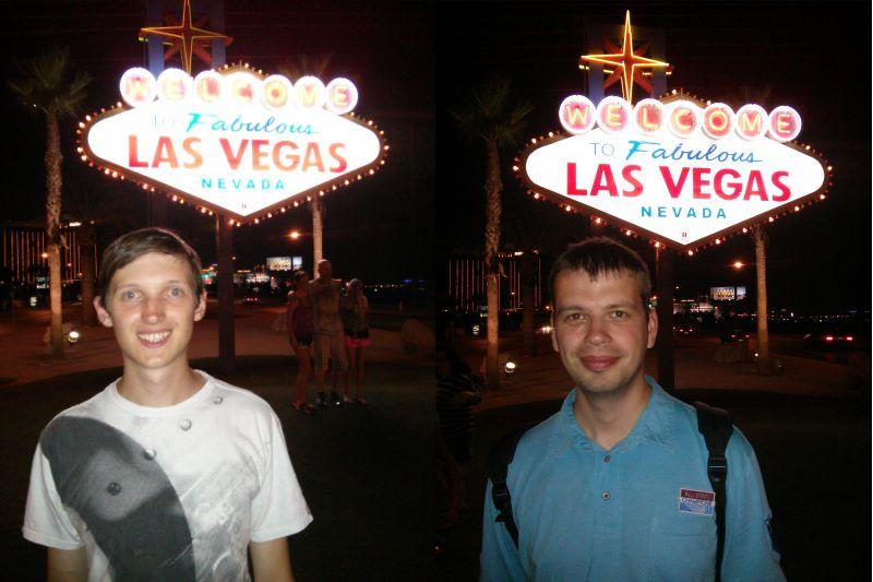 Flo und ich vor dem berühmten Las Vegas Schild