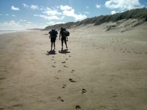 Strand soweit das Auge reicht und danach noch mehr Strand.